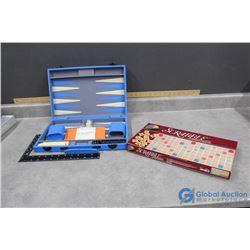 Scrabble & Backgammon Board Games
