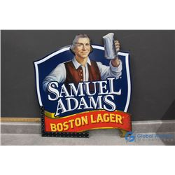 Samuel Adams Boston Tin Lager Sign