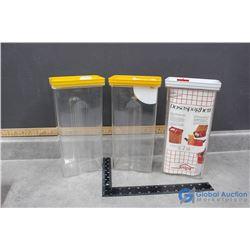 (3) Plastic Kitchen Storage Containers