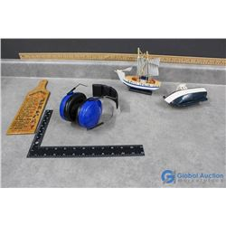 Wooden Boat Models, Funny Fanny Paddle, & Assorted