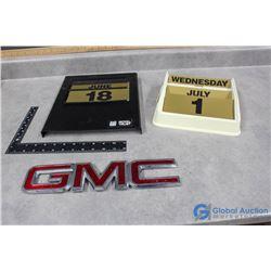 Calendars & Plastic GMC Emblem