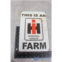 International Harvester Repro Tin Sign