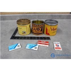 (3) Misc Tobacco Tins & Rolling Papers