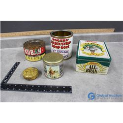 (5) Misc Household Tins