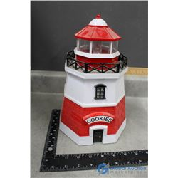 Plastic Light House Cookie Jar - Alarm Sound When Opened