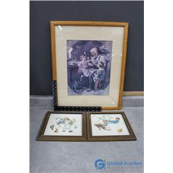 (3) Framed Norman Rockwell Pictures