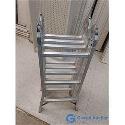 Aluminum Industrial Lite Folding Step Ladder