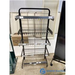 5 Shelf Metal Adjustable Display Rack