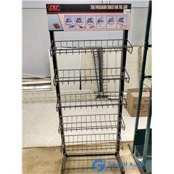 6-Shelf Metal Adjustable Display Rack