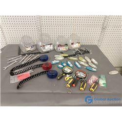Assortment of Unused  Tools and Screwdriver Bits