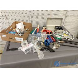 Assorted Tools & Hardware Items