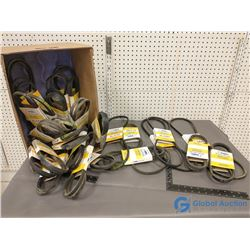Assorted NOS V-Belts w/Belt Measuring Tool