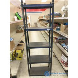 "5-Tier Plastic Shelf - Approx 68"" H x 24"" W x 12"" D"