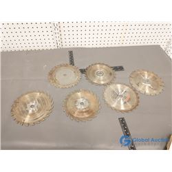 (6) Assorted Used Circular Saw Blades