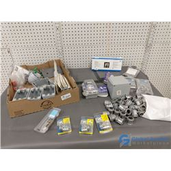 Assorted NOS Electrical Boxes & Electrical Items