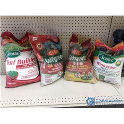 (4) NOS Bags Lawn Fertilizer