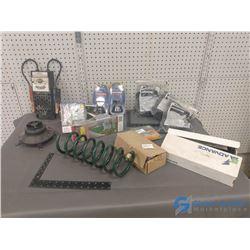 Garage Parking Guides, Florescent Ballasts, & Hardware Items
