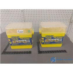 (2) NOS Grease Tube Storage Boxes