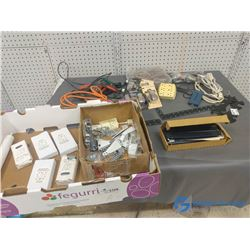 Indoor extension cords, Alligator Clips, & Hardware Items