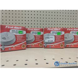 (4) NOS First Alert Smoke Detectors