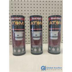(3) NOS First Alert Smoke Detectors