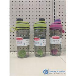 (3) NOS Rubbermaid Shaker Bottles