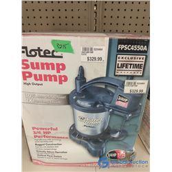 NOS In Box 3/4 HP Sump Pump