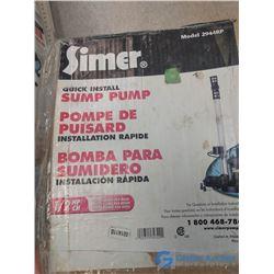 NOS In Box 1/2 HP Pedastal Sump Pump