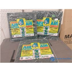 "(3) NOS 20"" x 20"" Furnace Air Filter"