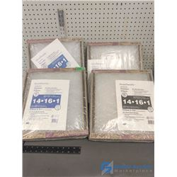 """(4) NOS Packs of 14"""" x 16"""" Furnace Filters"""