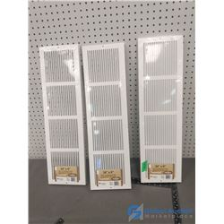 """(3) 24"""" x 6"""" Cold Air Return Baseboard Grilles"""