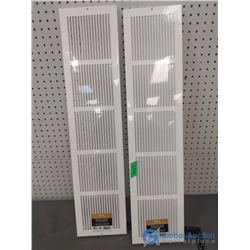 """(2) 30"""" x 6"""" Cold Air Return Baseboard Grilles"""