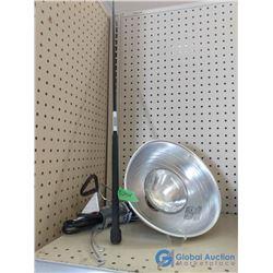 NOS Heat Lamp & Stock Whip