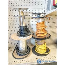 (4) Partial Rolls of Electrical Wire & (2) Roll Ends of Light Chain
