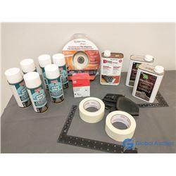 (6) Cans NOS Metered Insecticide Spray, (3) Cans Furniture Stripper, Window Film Dispenser & Misc. I