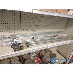 Assorted Tarp Support Rods, Closet & Shower Rods