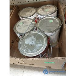 Box of Assorted Mis-Tinted Paint