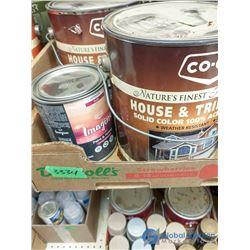 Box of Assorted Unused Paint