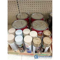 Box of Assorted Paint & Spray Paint