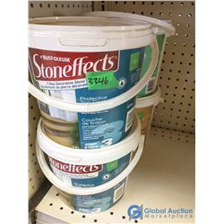 (4) Pails of 3-Step Stone Effects Outdoor Covering