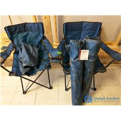 (4) Unused Folding Camp Chairs w/Bags