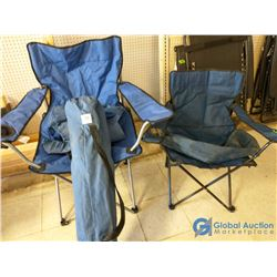 (3) Unused Folding Camp Chairs w/Bags