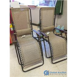 Light Brown Mesh Folding Zero-Gravity Chair - Bid Price Per Chair, Times 2