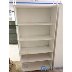 White 5-Shelf Book Shelf