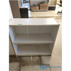 White 3-Shelf Bookshelf