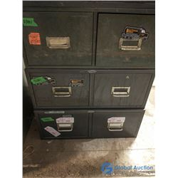 (3) 2-Drawer Metal Card Filing Cabinets - Bid Price per Cabinet, Times 3