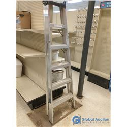 6ft Folding Aluminum Step Ladder