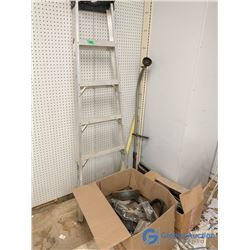 Part of an Aluminum Step Ladder, Weed Whacker & Assorted Items (Bargain Corner)