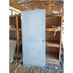 """Unused Metal Fire Door - 36"""" x 84"""""""