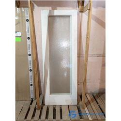 """28"""" x 80"""" Door w/ Textured Glass Insert"""